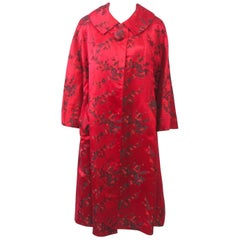 Red Brocade Hong Kong Coat