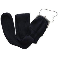 """Collector's Rare Jean Paul Gaultier Knit """"Sock"""" Purse"""