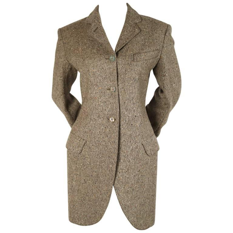 1987 AZZEDINE ALAIA tweed riding jacket