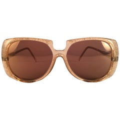 New Vintage Oliver Goldsmith Clear Oversized 1980 Made in England Sunglasses