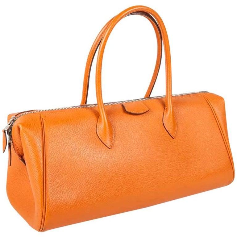 HERMES 'Bombay' Bag in Orange Epsom Leather
