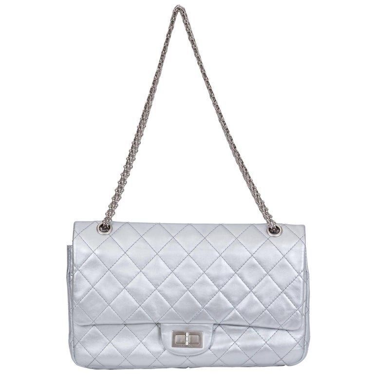 Chanel Silver Jumbo Reissue Double Flap