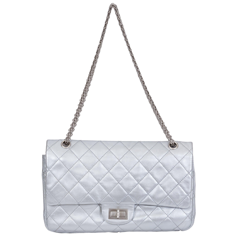 Chanel Silver Jumbo Reissue Double Flap