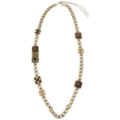 CHANEL 'Paris-Byzance' Necklace in Gilded Metal