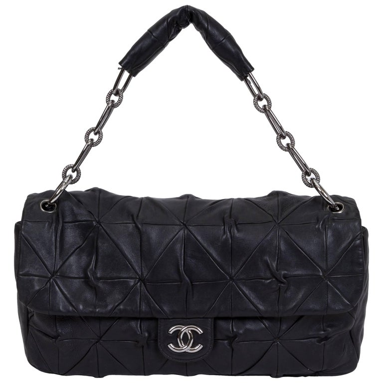 a088484d77d4 Chanel Maxi Black Leather Origami Flap Bag For Sale at 1stdibs