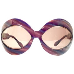 New Vintage Pierre Marly Cocktail Oversized Avantgarde 1960's Sunglasses