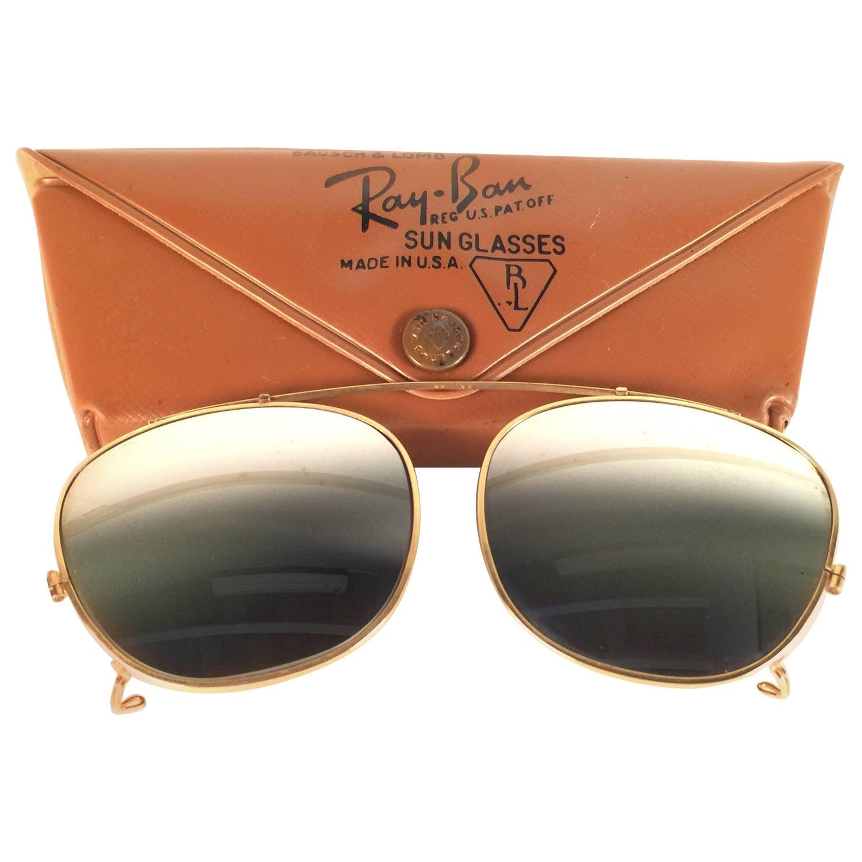 6d08d1728ca New Vintage Ray Ban B L Clip On Deep Freeze For Sunglasses Collectors Item  USA