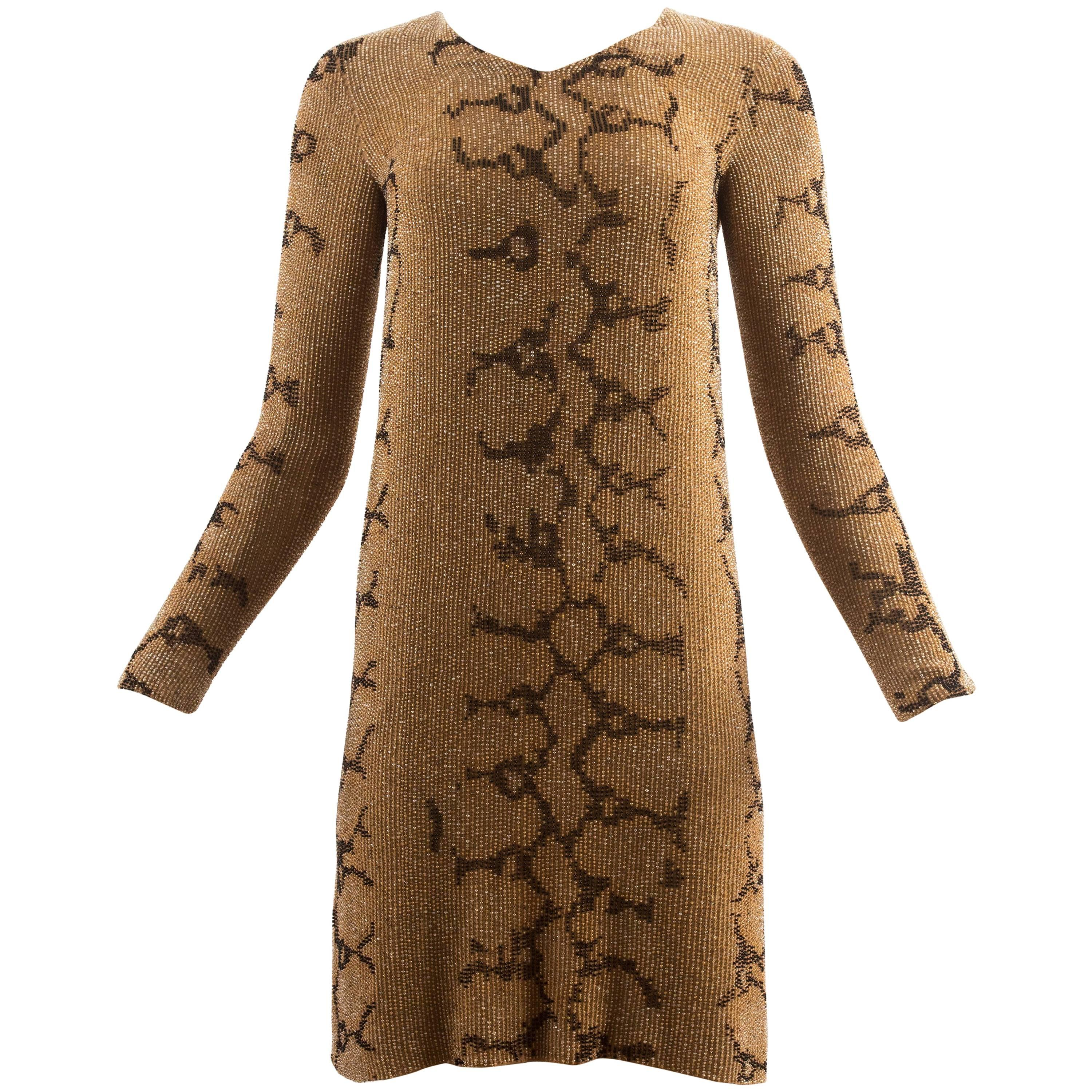 Tom Ford for Gucci Spring-Summer 2000 beaded python print shift dress