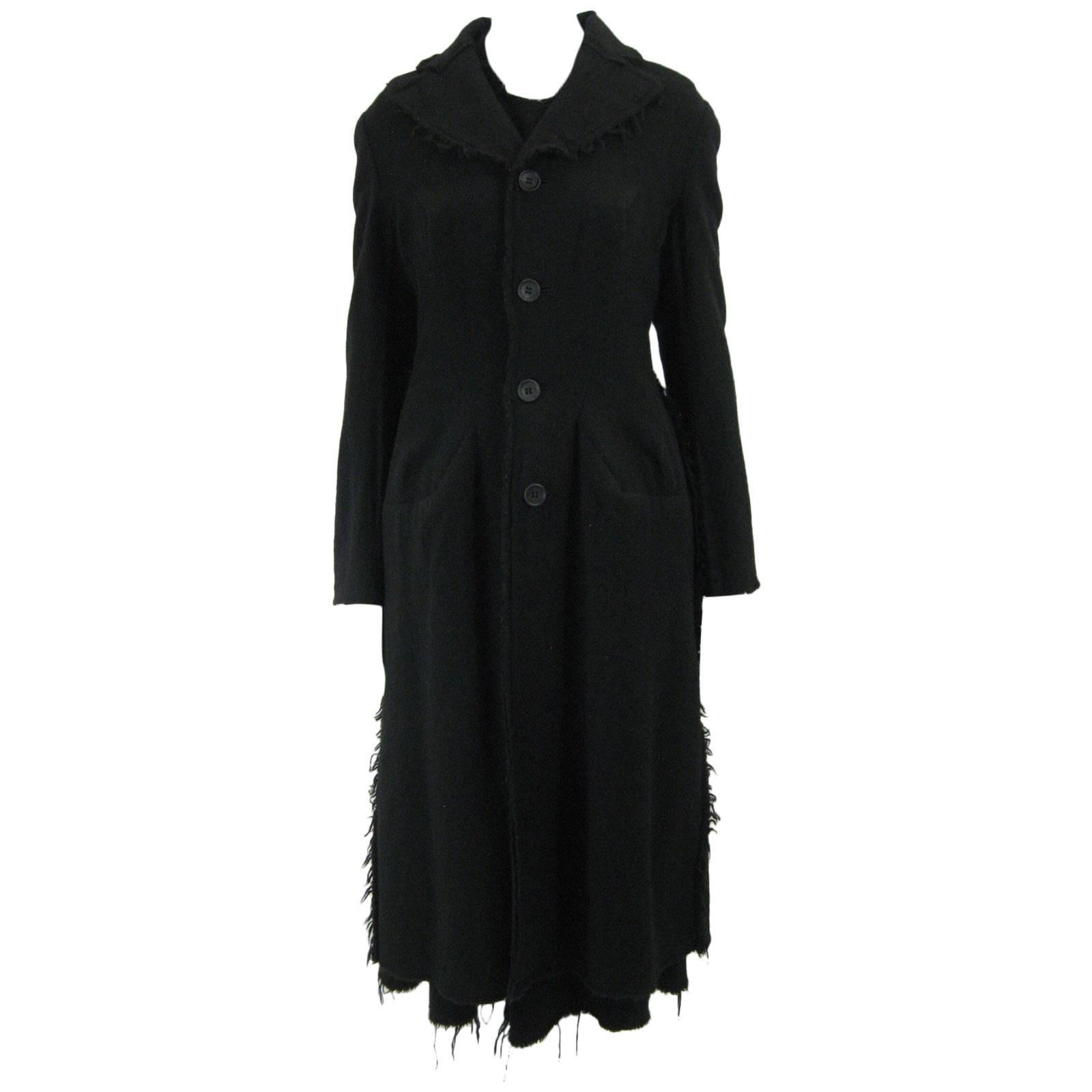 Junya Watanabe for Comme des Garcons 2003 Frayed Hem Coat & Dress