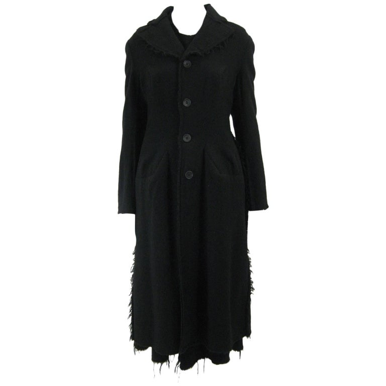 Junya Watanabe for Comme des Garcons 2003 Frayed Hem Coat & Dress
