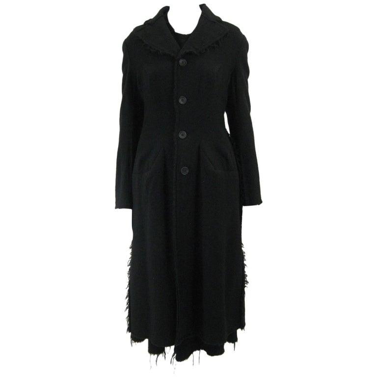 Junya Watanabe for Comme des Garcons 2003 Frayed Hem Coat & Dress 1