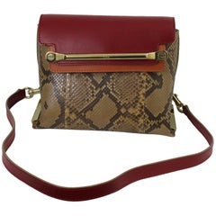 Chloe Clare Shoulder Bag in Leather and Snake