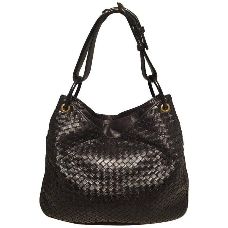 Bottega Veneta Woven Black Leather Shoulder Bag  1