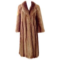 90'S Chloe Designer Full Length Raccoon Coat