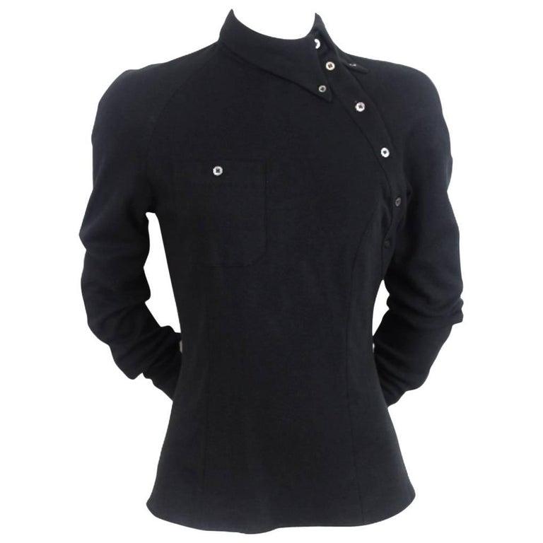 Alexander McQueen 1990s Bias Button Shirt