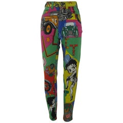 Versace Jeans Couture Cartoon Betty Boop Harley Novelty Logo Skinny Jeans