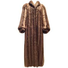 Vintage Canadian Long Hair Beaver Fur Coat