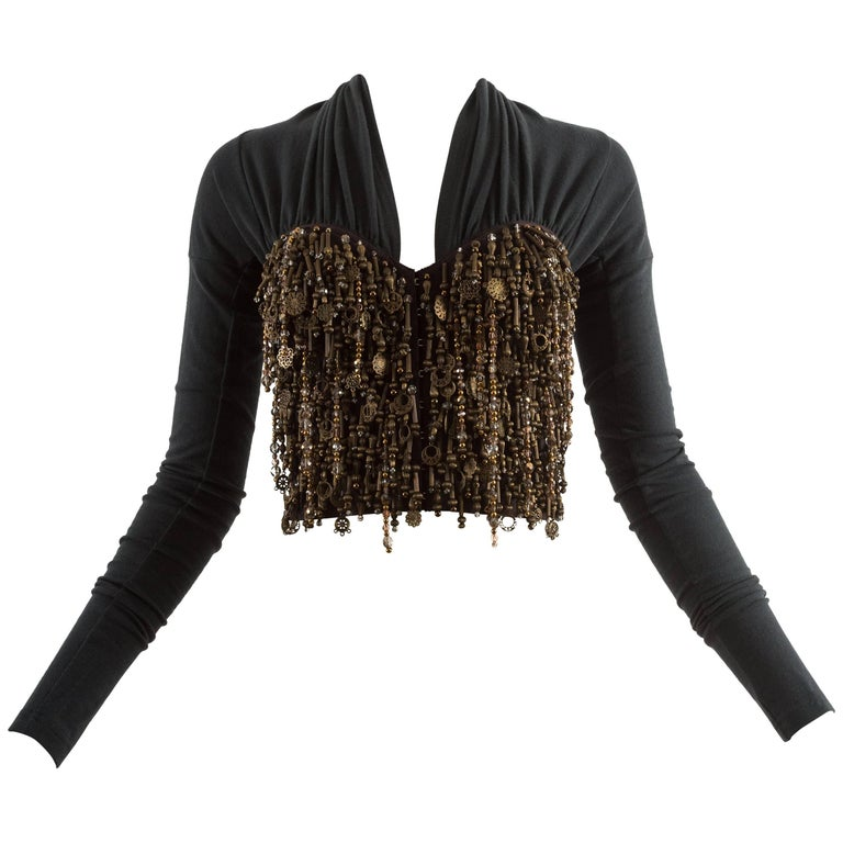 Dolce & Gabbana Autumn-Winter 1990 beaded corset blouse