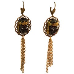 Vintage Blackamoor Princess Earrings - Rare