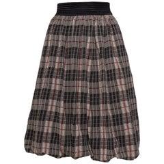 1990s JEAN PAUL GAULTIER Tartan Print Long Skirt Mini Dress