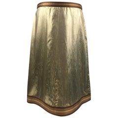 Rare 1960s Maria di Sant'Elena – Firenze, Gold Lame Skirt & Embellishments