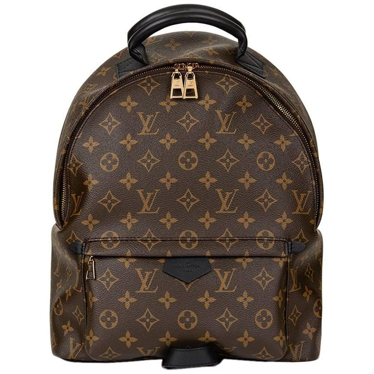 2016 Louis Vuitton Brown Monogram Coated Canvas Palm Springs Backpack MM For Sale