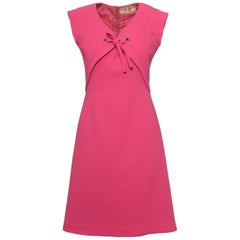 1960s PIERRE CARDIN Boutique Shocking Pink Mod Dress