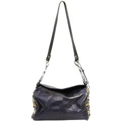 1960s Roberta di Camerino Blue Leather Handcuffs Bag