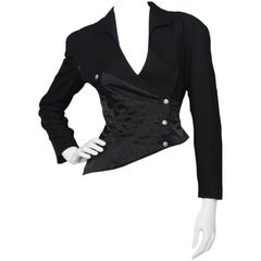 A 1980s Thierry Mugler Cropped Asymmetrical Jacket