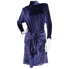 A Vintage Christian Dior by Ferré Silk Velvet Cocktail Dress