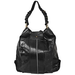 Chloe Black Leather Hobo Bag