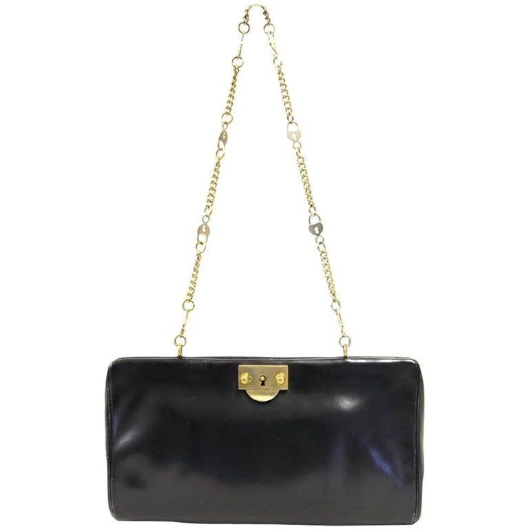 1960s Roberta di Camerino Black Leather Purse