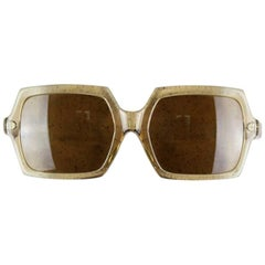 Rodenstock 1960s/1970s Taupe Sunglasses With Brown Lenses