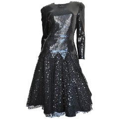 Mignon Vintage 1980's Sequin & Tulle Dress
