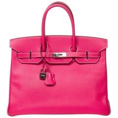 Hermes Birkin 35 in Rose Tyrien Epsom Leather