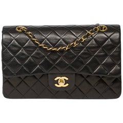 Chanel Classic Double Flap in black quilted calf leather
