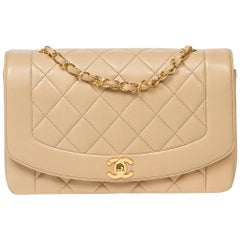 Chanel Mademoiselle Flap in beige quilted calf leather