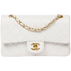 Chanel Classic Double Flap in white quilted calf leather