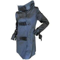 Gucci Black Coat with Dramatic Collar