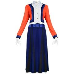 Roberta di Camerino Trompe Suit Red, Blue, Black, White Max Dress