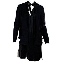 Black Proenza Schouler Drop Waist Dress