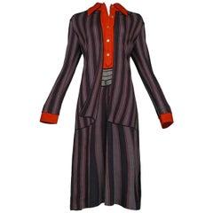 Roberta di Camerino Trompe Grey, Red & Black Day Dress