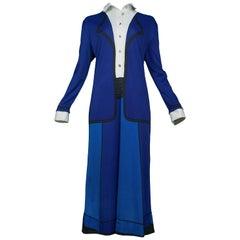Roberta di Camerino Blue On Blue Day Dress