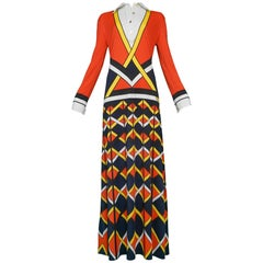 Red Yellow & Black Maxi Dress