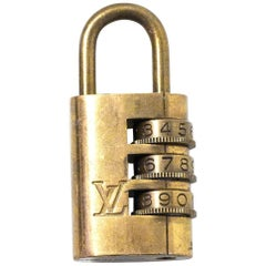 Louis Vuitton Vintage Brass Combination Lock