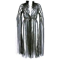 Rei Kawakubo Protege Kei Ninomiya Intricate Black Woven Art To Wear Piece