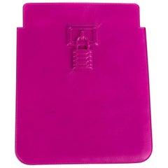 Roberto Cavalli Fuschia Leather iPad Sleeve With a Logo