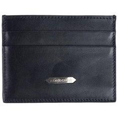 Roberto Cavalli Men's Black Taurus Man Mad Leather Cardholder wallet