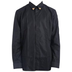 Givenchy Metallic Tipped Collar Shirt (Size - 43)