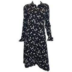 1970s Diane Von Furstenburg Black & White Tulip Dress